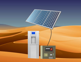 Atmospheric water with solar panels, even in the desert.