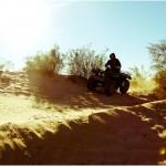 an atv user on a trail