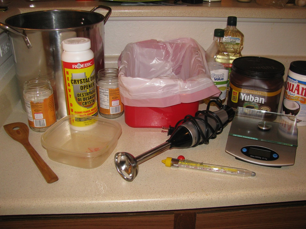 Soap-making supplies