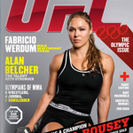 magazine cover featuring ronda rousey