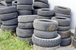 Used tires can be recycled into all sorts of useful consumer products